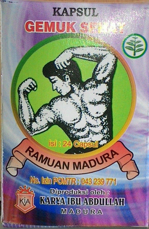 Jamu dan Ramuan Madura Kapsul Gemuk Sehat Pria/Wanita (24 Kapsul)